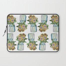 Watercolor Sunflower Vase Laptop Sleeve
