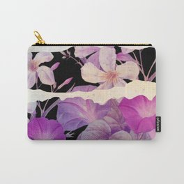 floral on torn paper Carry-All Pouch