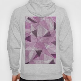 Abstract pink gray modern geometrical pattern Hoody