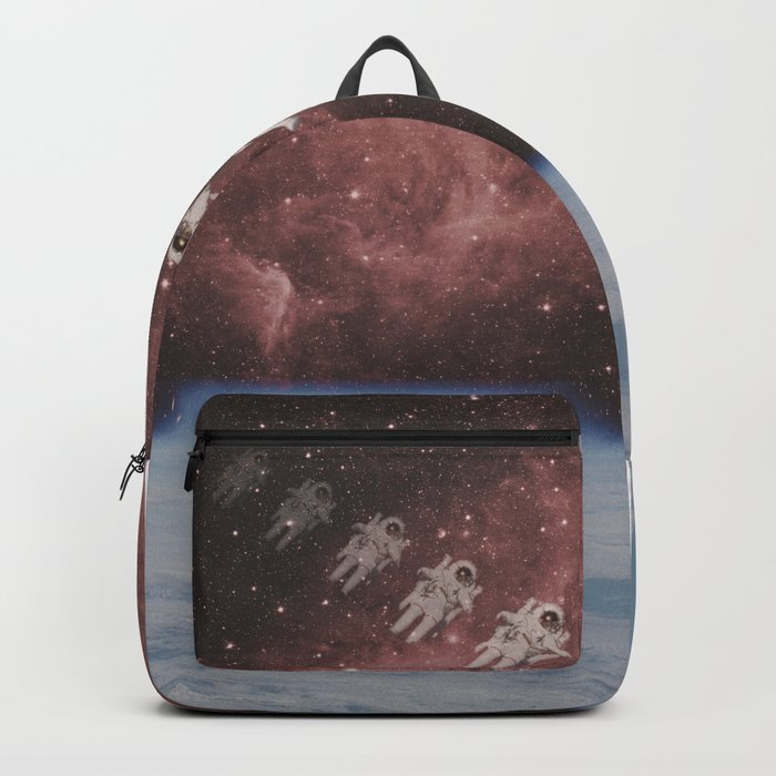 ASTRONAUT TRAVELING THROUGH TIME AND SPACE Backpack