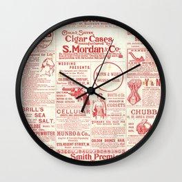 The old newspaper, vintage design illustration Wall Clock