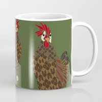 chicken Mugs featuring Chicken by ArtLovePassion