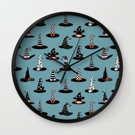Halloween- Witch Hats Wall Clock