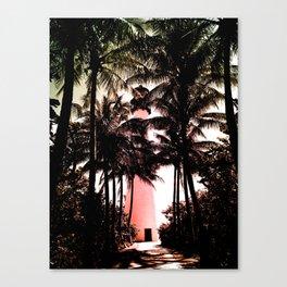 Pink Lighthouse Path Canvas Print
