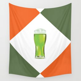 Green beer glass Wall Tapestry