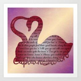 It's True Love Art Print