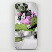 lotus flower iPhone & iPod Skins featuring Lotus by SEVENTRAPS
