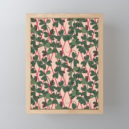 Colourful Plant - Green Framed Mini Art Print