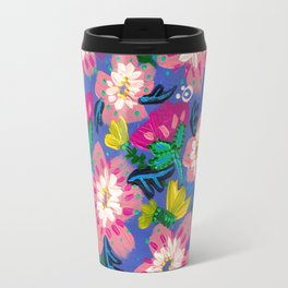 Pink Blooms Travel Mug