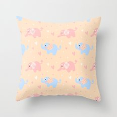 The Patterned Ear Elephant Throw Pillow