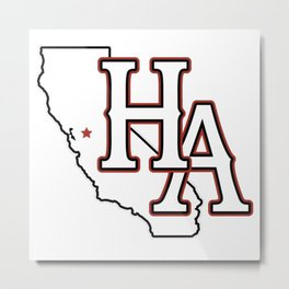 HA/CA (Red) Metal Print