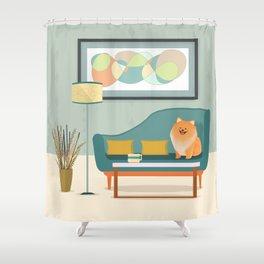 A Pomeranian Makes A House A Home Shower Curtain