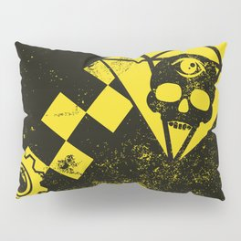 Black Leather Yellow Leather 3 Pillow Sham