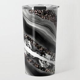 Agate Rose Gold Glitter Glam #3 #gem #decor #art #society6 Travel Mug