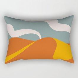 Abstract Sand Dunes Rectangular Pillow