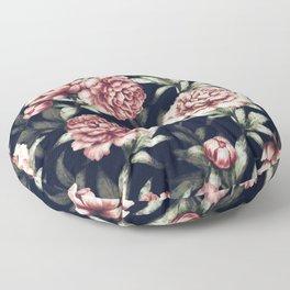 Vintage Garden (Midnight Sonata) Floor Pillow
