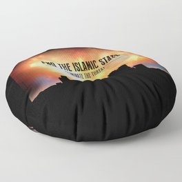 End The Islamic State Floor Pillow