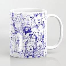 just alpacas blue white Mug
