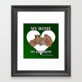 My Home, My Kingdom - Green Framed Art Print