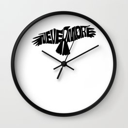 Nevermore Dark | Edgar Allen Poe Wall Clock