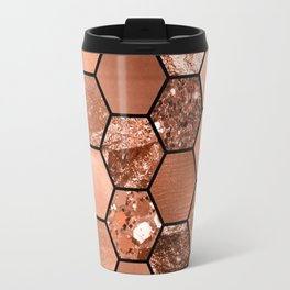 Rose gold hexaglam Travel Mug