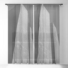 Manhattan Blocks Sheer Curtain