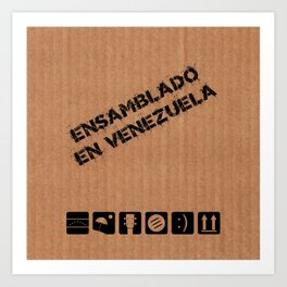 Ensamblado en Venezuela Art Print