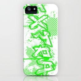 extra splash green grafitti design iPhone Case