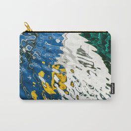 Yellow Blue Green Abstract Carry-All Pouch