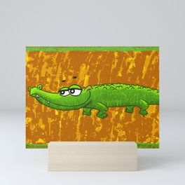 Crocodile Smile! Mini Art Print