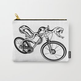 Snake Riding  A Mountain Bike Carry-All Pouch