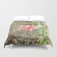 theatre Duvet Covers featuring A Night At The Theatre by Aimee Stewart