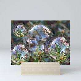 Flower bubbles Mini Art Print