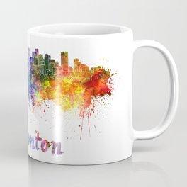 Edmonton skyline in watercolor Coffee Mug