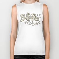 europe Biker Tanks featuring Europe Text by Dues Creatius