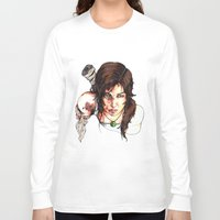 tomb raider Long Sleeve T-shirts featuring Tomb Raider: The Survivor by Dale Dupre