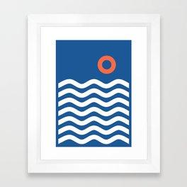 Nautical 03 Seascape Framed Art Print