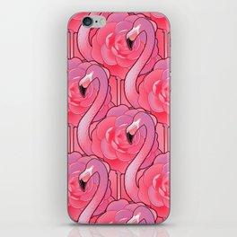 Cute floral flamingo iPhone Skin