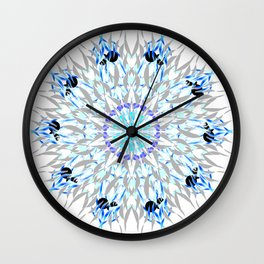 ice flake winter mandala Wall Clock