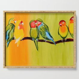 Sweetheart Birds Serving Tray
