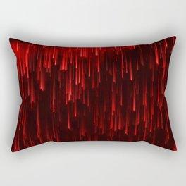 Raining Red Rectangular Pillow