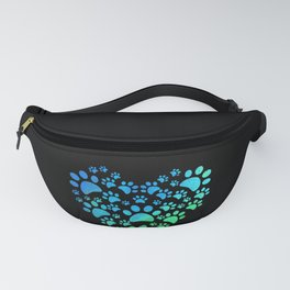 Cute Heart Dog Paws design Funny Gift For Animal Lovers Fanny Pack