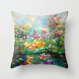 Roses paint  Throw Pillow