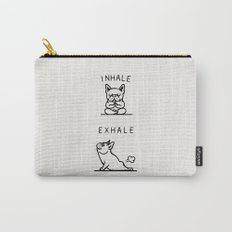 Inhale Exhale Frenchie Carry-All Pouch