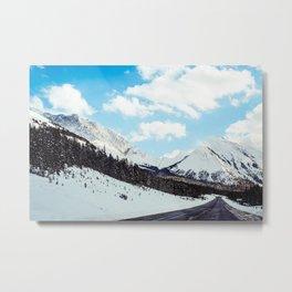 blowing snow Metal Print
