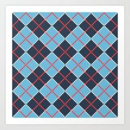 Boris Coat Pattern Art Print
