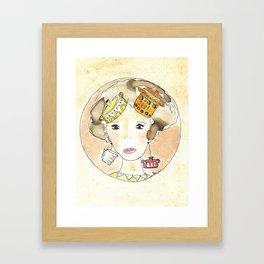 I pensieri sono una zuppa Framed Art Print
