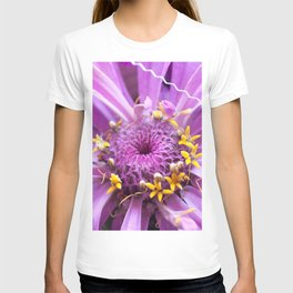 Soft Lilac Zinnia Flower Close-up #1 #decor #art #society6 T-shirt