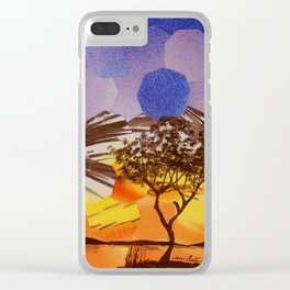 Lavendar Morning with Dove Clear iPhone Case