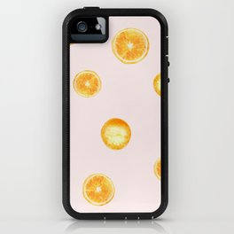 Orange watercolor iPhone Case